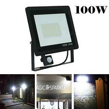 Outdoor Security Light Flood LED with PIR Motion Sensor Slimline Floodlight 100W