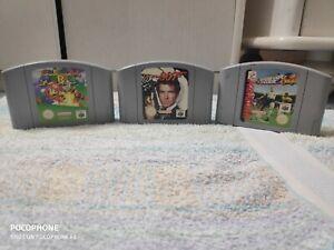 jeux nintendo 64 GoldenEye 007 + Mario 64 + Foot 64