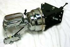 66-77 Ford Bronco CHROME Power Booster + Milled Master Cylinder & Disc Drum Kit