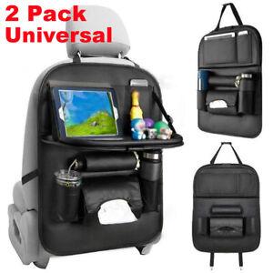 2x Car Foldable Table Tray Back Seat Hanger Holder Bag Travel Storage Organiser