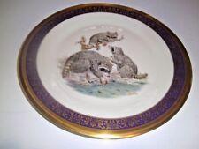 Vintage Lenox Boehm Woodland Wildlife Plate Raccoons 1973 Usa