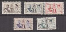CAMBODIA, 1955 Coronation set of 5, lhm.