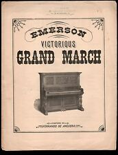 Emerson Victorious Grand March Large Format Emerson Piano Company Sheet Music