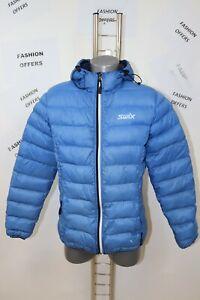 SWIX Mens Down Lightweight Hooded Puffer Jacket sz Small