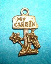 Pendant Flowers Charm Gardening Charm Bronze Flower Garden Charm