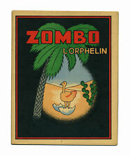 1950 Enfantina Livre de coloriage pour enfant Zombo l'orphelin Autruche Superbe