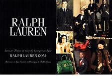 Publicité Advertising 107   2011  Boutique en ligne (2p) Ralph Lauren haute cout