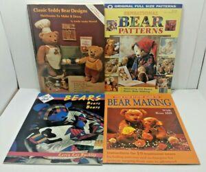 (4) Plush / Stuffed Teddy Bear Making Books - Techniques & Patterns - Paperbacks