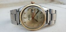 VINTAGE BULOVA OCEANOGRAPHER 333 FEET GOLD / STEEL AUTOMATIC MENS 36MM WATCH