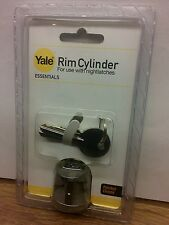 ⭐ YALE RIM CYLINDER POLISHED CHROME Nightlatch Barrel ***Free P&P*** ⭐