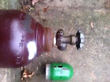 Used 125 CF  gas cylinder Argon-Argon/CO2-Nitrogen-Helium         580 Cga Valve