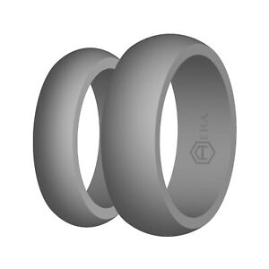 AERA Silicone Wedding Band Engagement Ring FlexFit Rubber Mens Womens Jewelry
