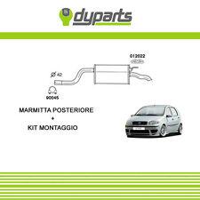 MARMITTA SILENZIATORE POSTERIORE FIAT PUNTO 188 DAL 99 1.2/16V NATURAL POWER