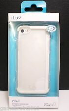 iLuv Vyneer iPhone 5 Dual Material Protection Case in White/Clear - AILVYNEWH