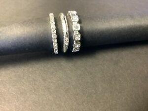 Avon Pave Stacking Ring Trio Silvertone Size 8