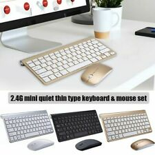 Wireless Mini Keyboard And Mouse Set Waterproof 2.4G For Mac Apple PC Computer