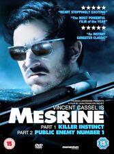 MESRINE PARTS 1 & 2 VINCENT CASSEL KILLER INSTINCT PUBLIC ENEMY No1 UK DVD L NEW
