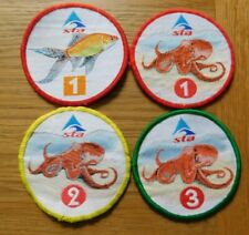 More details for vintage s.t.a. swimming sew on patches badges octopus 1 2 3 and goldfish 1