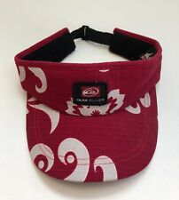 Quik Silver Red Cream Patterned Visor Cap Excellent Condition