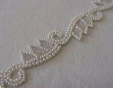 Hand-Beaded Trim. Faux Pearls. Antique Reproduction
