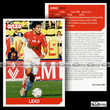 LEKO JERKO (AS MONACO) - Fiche Football 2007