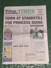 NEWSPAPER - Witham & Braintree Times - TOWN AT STANDSTILL FOR DI -  Sept 4 1997