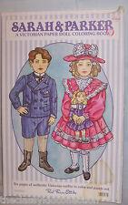 Sarah & Parker Victorian Paper Dolls Coloring Book