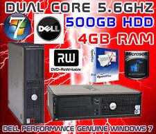 Window 7 DELL 2x2 0,80 GHz & 500 GB HD & 4 GB di RAM DVD-RW & WIFI