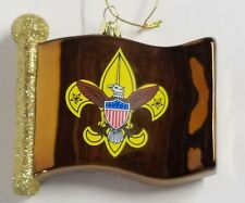 Boy Scouts of America Flag Glass Christmas Tree  Ornament Kurt Adler New