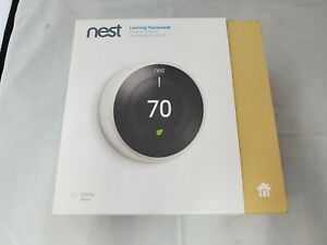 Nest T3017US Learning Thermostat, Open Box, White, Ships Free