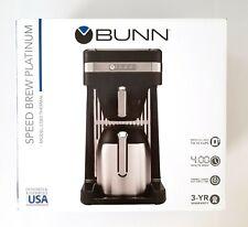 BUNN Speed Brew Platinum Thermal Coffee Maker Black Model CSB3T Brand NEW