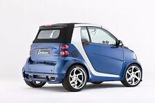 Lorinser 4x Speedy / Yokohama Kompleträder Silber 17 Smart ForTwo 451 BREIT