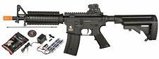 Lancer Tactical LT-02D M4 CQB Airsoft Rifle AEG Gun + Battery + Charger - Black