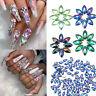 100pcs Marquise Crystal Rhinestones 3D Nail Art Decorations Flat Bottom Stones!