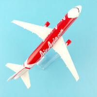 Qu_ 1/400 Air Asia A320 Alloy Plane Aircraft Airplane Model Kids Toy Gift Desk D
