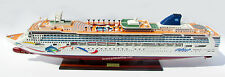"NORWEGIAN Dawn Dolphin Artwork Cruise Ship 40"" Handcrafted Wooden Model"