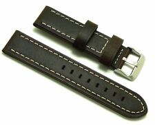 20mm Brown Old Style Crazy Horse Leather Replacement Watch Band - Seiko 20 Watch