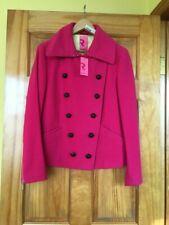 NWT HILARY RADLEY Pink Double Breasted Short Coat Women's SZ12