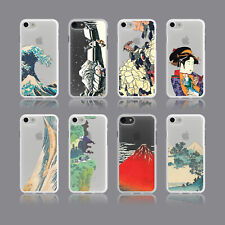 AESTHETIC HOKUSAI JAPANESE ART GEISHA FUJI SOFT PHONE CASE FOR IPHONE SAMSUNG
