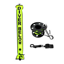 Scuba Diving Safety Gear Kit - SMB Signal Tube + 30m Finger Reel + Whistle