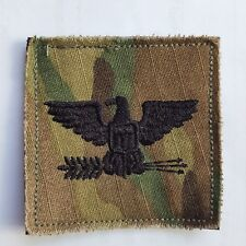 U.S. Army Patch VELCRO Parche coronel col o-6 rank multicam ocp Scorpion