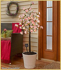 Solar CHERRY BLOSSOM TREE STAND 45 Lights Outdoor Lawn Garden Patio Porch Decor