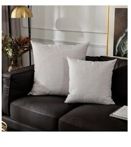 """Decorative Lined Lean Cushion Cover Throw Pillow Case Bedroom 24""""x24"""" Set Of Two"""