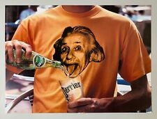 Affiche Perrier Flashback : 1998/2005 by Ogilvy&Mather - Albert Einstein