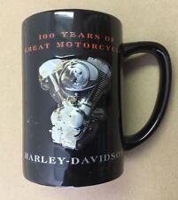 """Harley Davidson 100th Anniversary 'Granite"""" Mug New With Gift Box"""