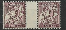 ALGERIE TAXE N°7 GUTTER PAIR FRENCH PERIOD MNH/**