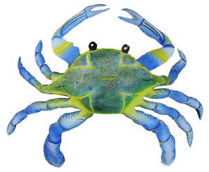 Maryland Blue Crab Haitian Metal Art Wall Art Decor 9 inches