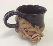 Charlestowne Porcelaine Pottery Cup/Mug With Frog & Lily Pad