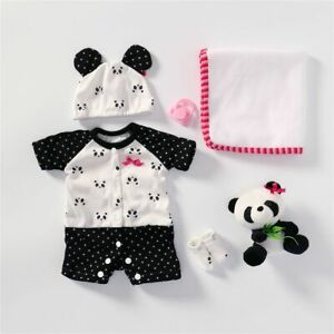 Panda Clothes Lovely Baby Outft Fit for Reborn Baby Dolls 16-18'' Preemie Doll