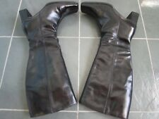 PEGABO Made in POLAND Black Leather Knee High Boots Size 38 Heels 2 1/4''